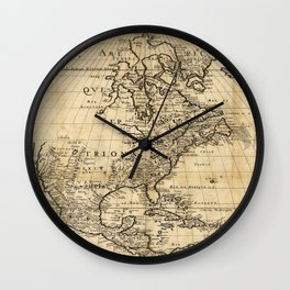 Amerique Septentrionale, Map of North America (1650) Wall Clock