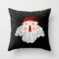 santa Throw Pillows featuring Santa  by Inmyfantasia