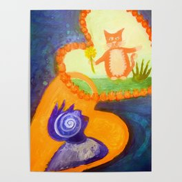 mutual guardians - cat and human Poster