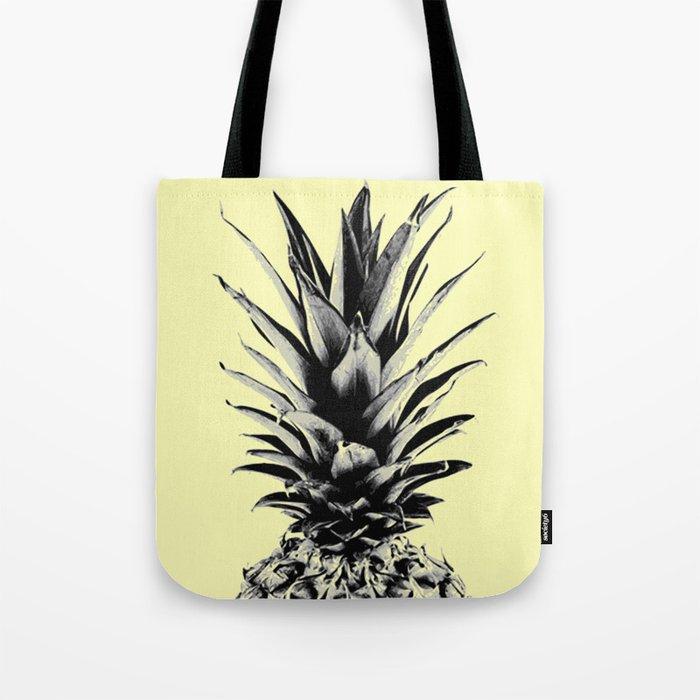 Pineapple in yellow Tote Bag