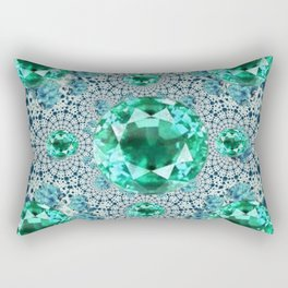 Emerald Gems May Birthstones Optical Pattern Rectangular Pillow