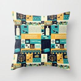 Divergent items Throw Pillow