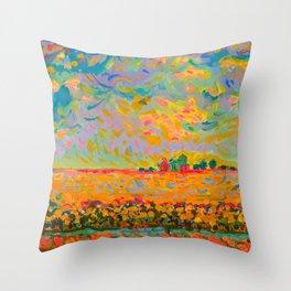 Indiana Flatlands Throw Pillow