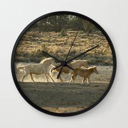 Kicking Up Dust, No. 2 Wall Clock