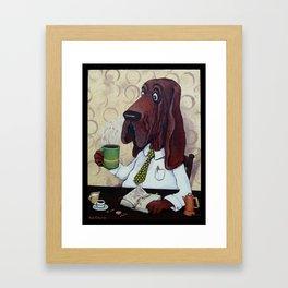 Coffee Hound Framed Art Print