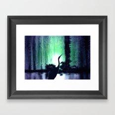 Lonely heron. Framed Art Print