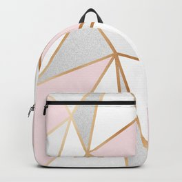 Pink, Grey & Gold Geo Backpack