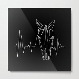 Horsebeat [White] Metal Print