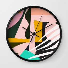 Abstract and geometric 17 Wall Clock