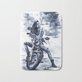 Biker Girl Bath Mat