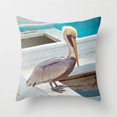 PELICAN POSE Throw Pillow