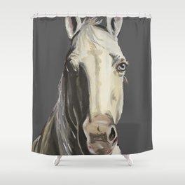 Horse Art, Grey Horse Art, Farm Animal Art Shower Curtain