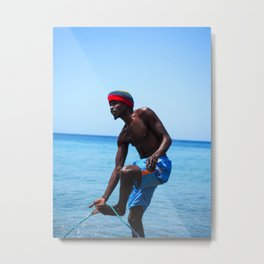 St. Lucia Local Portrait Metal Print