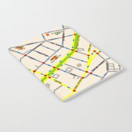 Tel Aviv map - Rothschild Blvd. Hebrew Notebook
