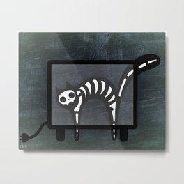 Xray Cat - Skeleton Kitty Metal Print
