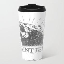The Saint Bear Metal Travel Mug