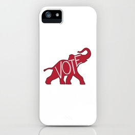 Vote Republican Party Red Elephant iPhone Case