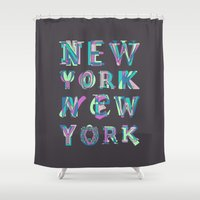 nyc Shower Curtains featuring NYC by Fimbis