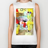kandinsky Biker Tanks featuring Without incident by Kay Weber
