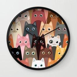 Cats Pattern Wall Clock