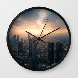 Sunset Frankfurt am Main Wall Clock