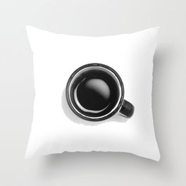 Cup of Coffee (Black and White) Throw Pillow