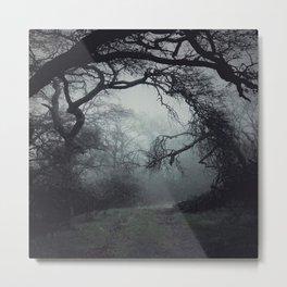 """""""Misty Road Home"""" Metal Print"""