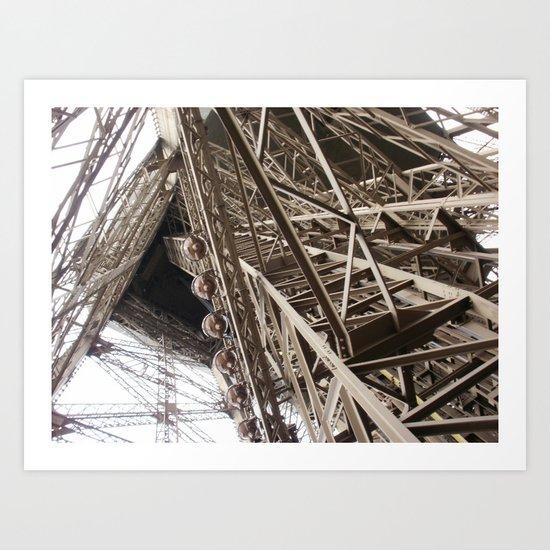 Eiffel Tower Ironwork Art Print