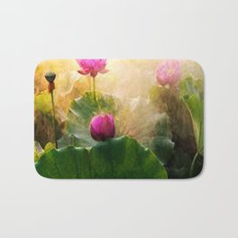 Pink Lotus Flower Bath Mat