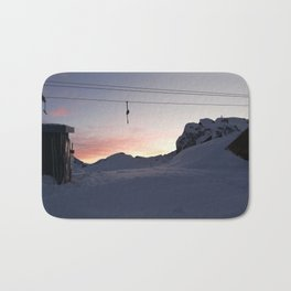 New day about to start at mountains Bath Mat