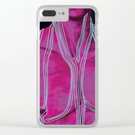 Neon Like Fluids Clear iPhone Case