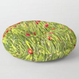Flanders Poppies Floor Pillow
