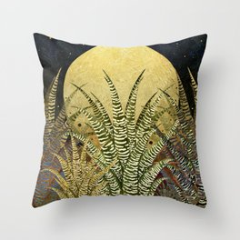 """Golden aloe Zebra midnight sun"" Throw Pillow"