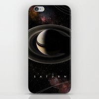 saturn iPhone & iPod Skins featuring SATURN by Alexander Pohl