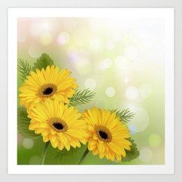 Art Flowers V18 Art Print