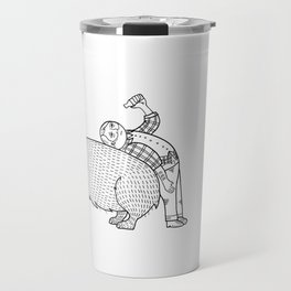 The Known Practice of using Domesticated Bears as cushions while drinking.  Travel Mug