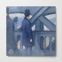 "Gustave Caillebotte ""The Bridge of Europe, sketch"" Metal Print"
