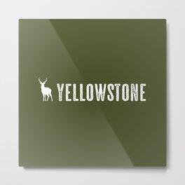 Deer: Yellowstone Metal Print