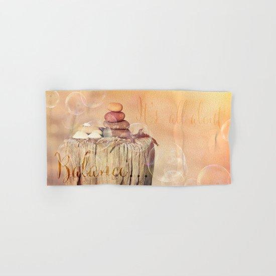 Balance Stone Cairn Sunset  Bubbles Light Hand & Bath Towel
