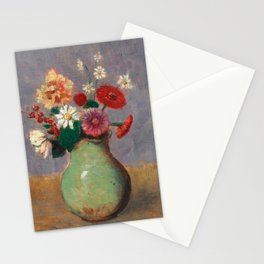 "Odilon Redon ""Flowers in a Green Vase (Fleurs Dans Un Vase Vert)"" Stationery Cards"