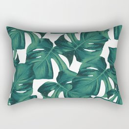 Tropical Monstera Leaves Pattern #2 #foliage #decor #art #society6 Rectangular Pillow