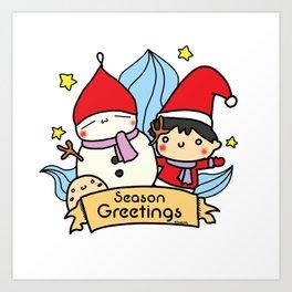 Season greetings from Kendylife Art Print