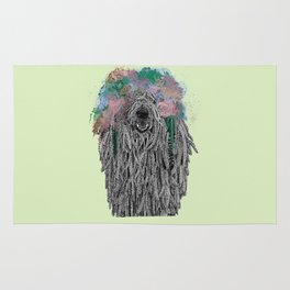 Dredlock Dog (Pastel Green Edition) Rug