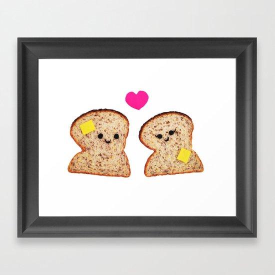 Toasty Love Framed Art Print