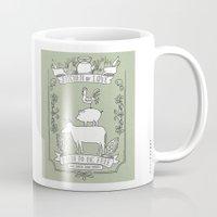 vegetarian Mugs featuring Vegetarian by Dani Purper