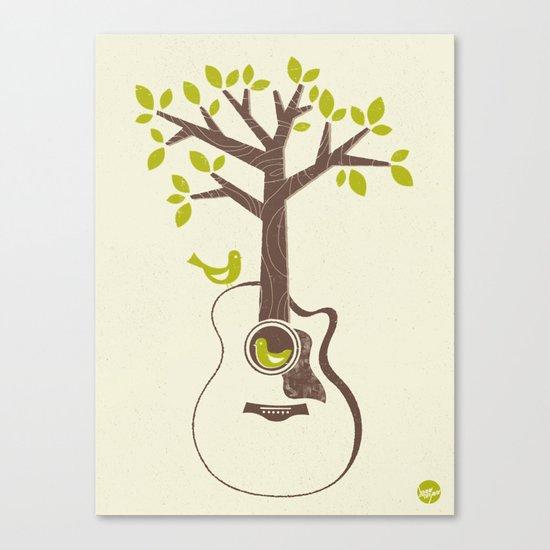 Birds & Acoustic Guitar Canvas Print