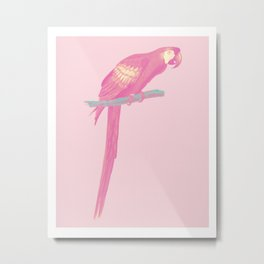 Pink Parot Metal Print