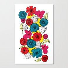Scandinavian Flowers Canvas Print