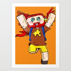 Getting jiggy with it - Minecraft Avatar Art Print