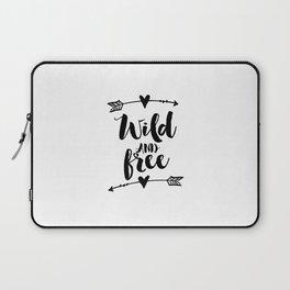 Inspirational Quote Home Decor PRINTABLE ART Nursery Poster Wild And Free Arrow Wall Decor Arrow Laptop Sleeve